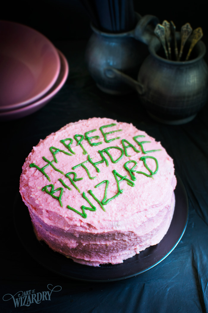 Awesome Harry Potter Birthday Cake Art Of Wizardry Personalised Birthday Cards Paralily Jamesorg